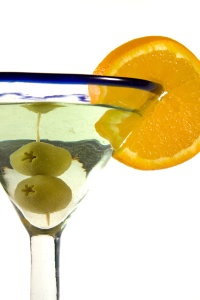 Isolated Martini Glass